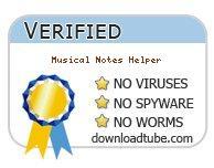 Musical Notes Helper antivirus scan report at downloadtube.com
