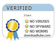 Signo antivirus scan report at downloadtube.com