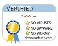 TheCalcMan antivirus scan report at downloadtube.com